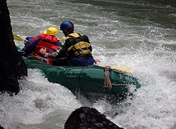 Rafting no rio Manso