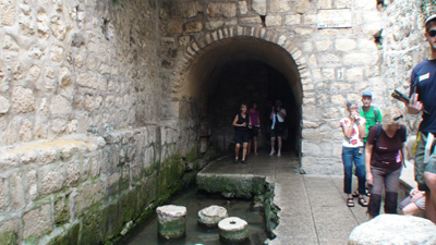 Jerusalem - Saida do Tunel de Ezequias