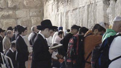 Jeruslem - Orações no Muro das Lamentações